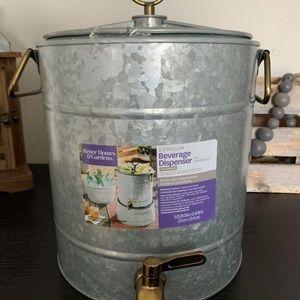 New Galvanized Beverage Dispenser & More